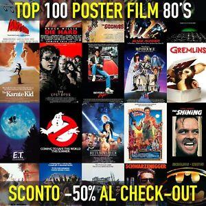 Poster film locandina dei migliori film Anni 80 PROMO 50% per arredamento stanza