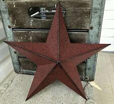 "Metal Barn Star 12"", Burgundy Red Farmhouse Style"