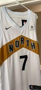 NBA Toronto Raptors Kyle Lowry Adidas Jersey White Gold OVO size Large