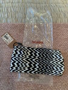 MISSONI WOMENS DESIGNER BLACK WHITE ZIG ZAG HEAD BAND NEW WITH TAGS