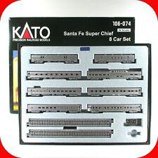 N Scale SANTA FE SUPER CHIEF 8-Car Passenger Set w/ UNITRACK KATO 106-074 - RARE