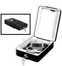 Boat Security Cash Box Travel Safe Wall Mount / Portable Spare Key Solid Steel