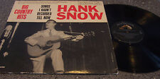"""Hank Snow """"Big Country Hits Songs I Hadn't Recorded till Now"""" RCA LP #LPM-2458"""