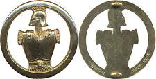 Insigne de béret, GENIE, doré, 2 pontets, 45 millimètres, Delsart (0334)
