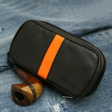 New black leather multipurpose tobacco pouch Pipe pocket  Z4