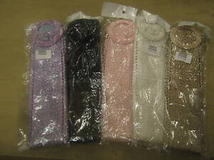 VINTAGE 50s STYLE BLACK ,PINK,LILAC & BEIGE LACE FABRIC  BELTS