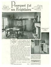 """Publicités Ancienne """" Frigidaire    """" 1930 """""""