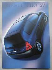 1999 Renault Clio 16v Fold Out Brochure