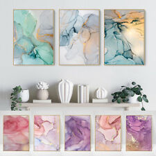 Fluid Art Canvas Wall Art Poster Nordic Abstract Marble Texture Print Painting