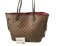 Louis Vuitton Damier Ebene EB Neverfull MM handbag shoulder bag