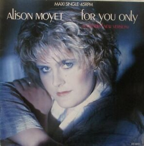 """ALISON MOYET - For You Only ~ 12"""" Single PS"""