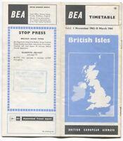 BEA BRITISH EUROPEAN AIRWAYS BRITISH ISLES TIMETABLE WINTER 1963/64 NO.18 B.E.A.
