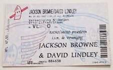 JACKSON BROWNE / DAVID LINDLEY : billet ticket concert HOLLAND 31/03/1997