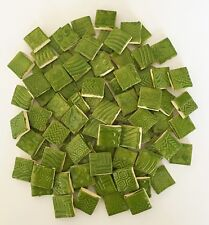 """Clover Green SQUARE High Fired Mosaic Ceramic Tiles - 3/4"""""""
