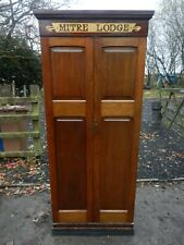 OLD/VINTAGE SUPERB RARE LARGE MASONIC MITRE LODGE CABINET - GOOD CONDITION
