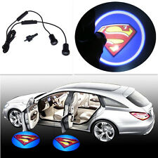 2x3D SuperMan Badge Laser Projector Light Car Door Step Led Welcome Ghost Shadow
