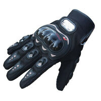 Rock Black Short Sports Leather Motorcycle Motorbike Summer Gloves For Driving