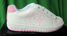 """DC """"YOUTH FIELD SN"""" SNEAKERS SHOES SKATE BOARDING  WHITE/PINK YOUTH 3Y 3"""
