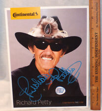 Richard Petty Signed Continental Tire Promotion Photo Autograph #2