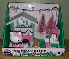 Sanrio Hello Kitty Christmas Animated Lighted Musical Candy Shop Decoration Toy