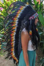 Large INDIAN HEADDRESS Chief War bonnet Costume Native American Halloween