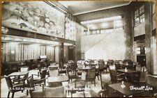 Art Deco Smoking Room Interior 1936 Realphoto Ship Postcard: SS 'Ile de France'
