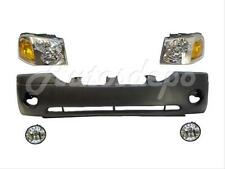 FOR 02-09 GMC ENVOY SLE SLT FRONT BUMPER HEADLIGHT FOG 5PCS