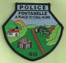 FONTANELLE IOWA POLICE PATCH