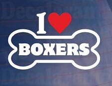 Me love/heart Boxers Novedad Bone Vinilo car/window Adhesivo-Ideal para los propietarios de perros