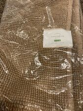 Pottery Barn Textured Organic Cotton  Bath Mat Rug Tan 24 X 64 Brand New