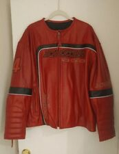 SCHOTT BROTHERS NYC Red LEATHER MOTORCYCLE JACKET big four racing