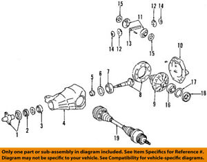 TOYOTA OEM Rear-Axle Seals 9031143009
