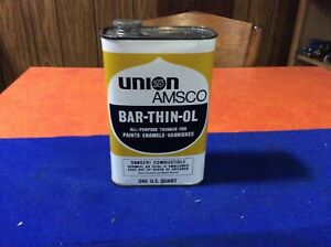 Early, UNION 76 AMSCO, Bar-Thin-Ol, All-Purpose-Thinner, oil can