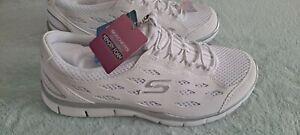 Ladies Skechers Memory Foam Air Cooled Sneakers 7 Athletic Shoes Activewear