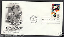 Winter Olympics 1984 USPS First Day Cover & 20 cent Commemorative Stamp Hockey