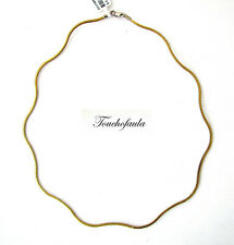 """14K YELLOW GOLD 14K WHITE GOLD REVERSIBLE QUATTRO WAVE OMEGA NECKLACE 18"""""""
