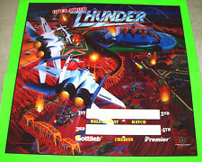 Gottlieb OPERATION THUNDER 1992 Original NOS Pinball Machine Translite Art Sheet
