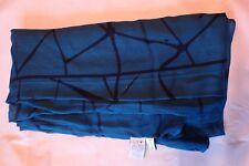 Oblong scarf or wrap; abstract Calvin Klein; blue / green color