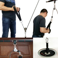 Pull Down Cable Machine Pulley System Gym Equipment for Tricep Bicep Forearm Arm