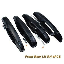 4pcs Front Rear LH RH Black Outside Door Handle for Chevy Pickup Truck SUV New
