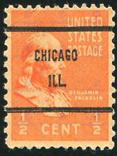 FRANKLIN VINTAGE POSTAGE STAMP USA CHICAGO PHOTO ART PRINT POSTER BMP605B