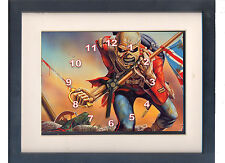Iron Maiden. Celebrity framed print and clock. NEW. Music memorabilia.