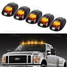 5pc Smoke Cab Roof Marker Lights Yellow for 2003 - 2016 Dodge Ram 2500 3500 4500