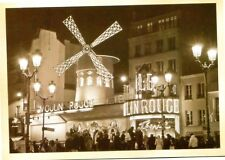 POSTCARD REPRODUCTION OF OLD PICTURE OF MOULIN ROUGE NIGHTCLUB IN PARIS