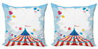 Ambesonne Colorful Fun Cushion Cover Set of 2 for Couch and Bed in 4 Sizes
