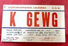 1955+QSL+Radio+Card+K6EWG+Amateur+Radio%2C+South+San+Francisco%2C+California