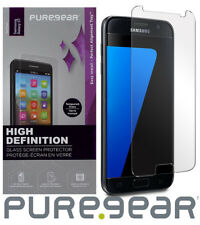 PUREGEAR PURETEK 9H TEMPERED GLASS SCREEN PROTECTOR + TRAY FOR SAMSUNG GALAXY S7