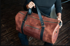Duffle bag women Custom duffle Personalized duffle Leather travel bag