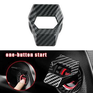 Carbon Fiber Car Engine Start Stop Push Button Switch Cover Trim  Accessories