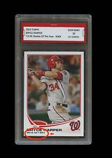 BRYCE HARPER TOPPS ROOKIE OF THE YEAR CARD 1ST GRADED 10 WASHINGTON NATIONALS